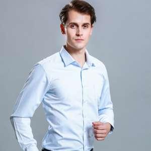 衬衫男长袖商务正装修身百搭免烫工装