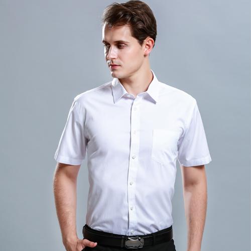 职业白衬衫男商务休闲短袖衬衣
