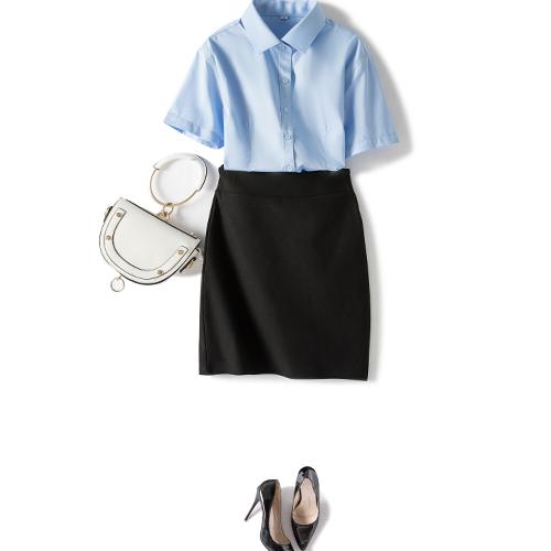 夏季短袖衬衫女士商务正装工作服