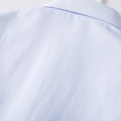 女士衬衫长袖天蓝色工作服商务