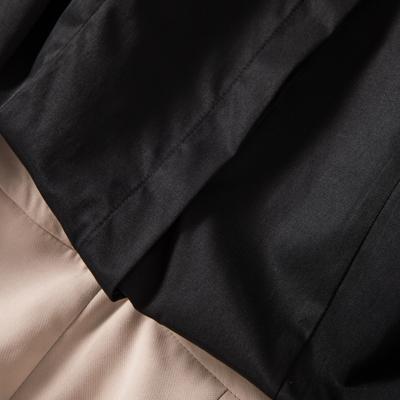 秋季长袖衬衫女纯黑色商务职业工装