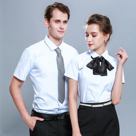 衬衫长袖修身商务工装免烫职业正装衬衣