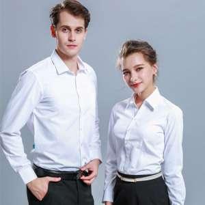 正装衬衫长袖男女职业工作服