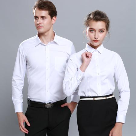 白衬衫长袖秋季商务免烫衬衣
