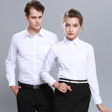 长袖白色衬衫职业装定制