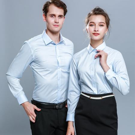 衬衫长袖免烫纯棉衬衣男女商务正装衬衫工作服定制