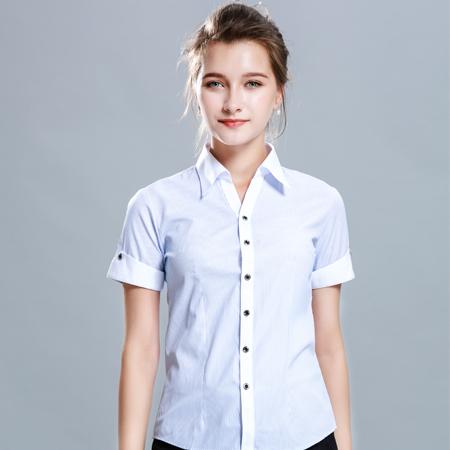 夏季薄款短袖衬衫女职业工装