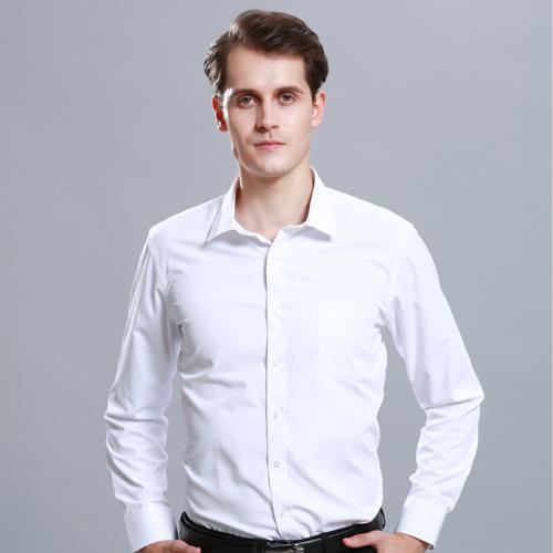 白色衬衫男长袖商务正装修身潮流