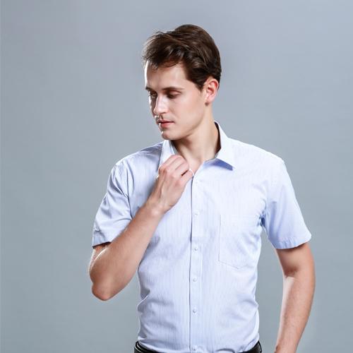 夏季薄款衬衫男短袖青年商务职业工装