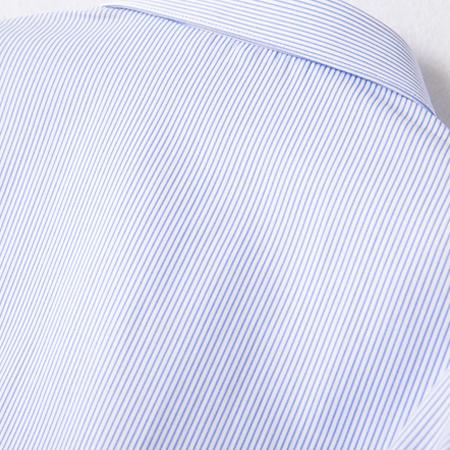 秋季浅蓝色条纹衬衫女长袖商务休闲职业工装