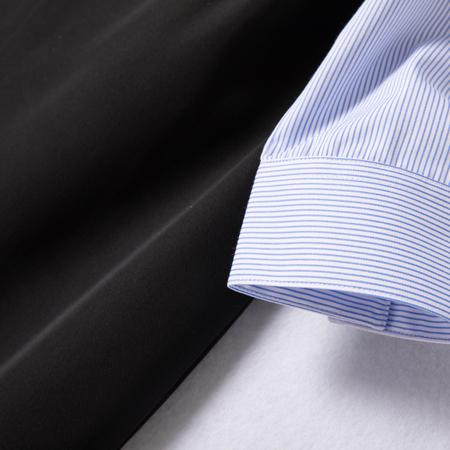 棉免烫女士长袖条纹衬衫