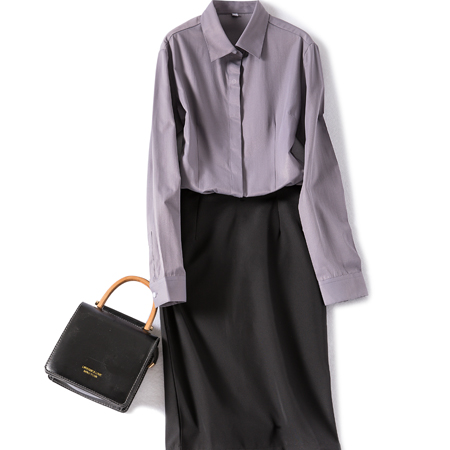 春秋季衬衫女长袖休闲免烫职业工装