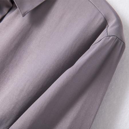 纯棉衬衫女长袖春秋季百搭洋气衬衣