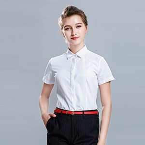 夏季薄款白衬衫女短袖职业工装