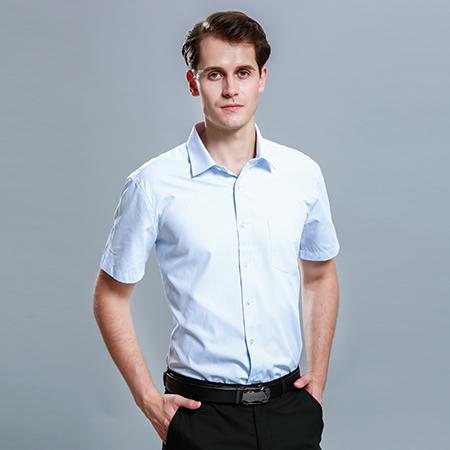 短袖衬衫男士商务修身工作服