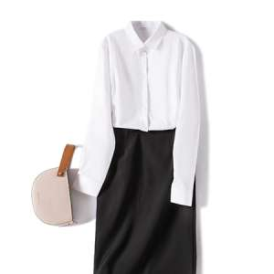 衬衫女长袖商务正装白衬衣