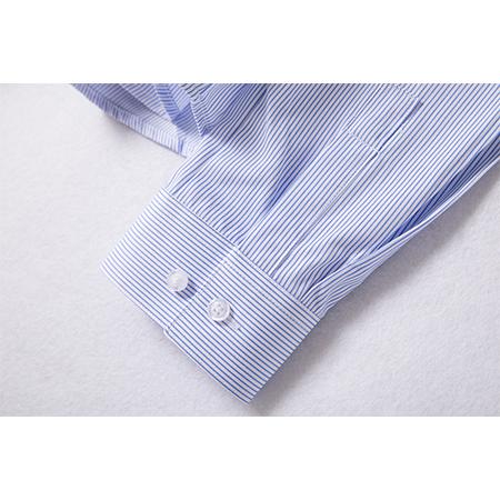衬衫女长袖条纹商务休闲职业装