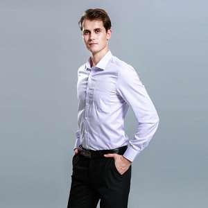 条纹长袖衬衫男士职业正装