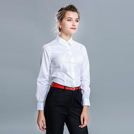衬衫长袖女装商务修身衬衣