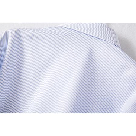 蓝色条纹长袖衬衫男士工作服