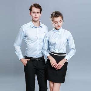 男女同款衬衫短袖休闲商务免烫衬衣