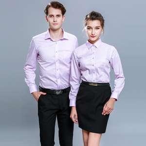 商务衬衫短袖男女同款职业衬衫