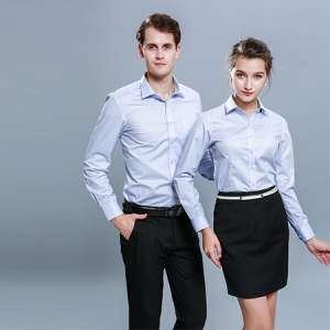 商务免烫男女正装衬衫舒适修身长袖