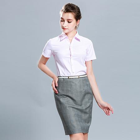修身商务休闲短袖衬衫女