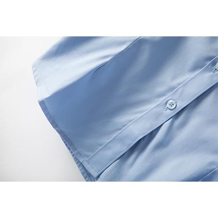 衬衫短袖男装商务修身衬衣