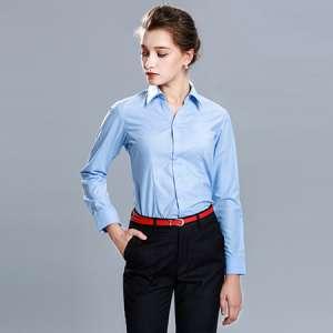 衬衫女长袖正装修身衬衣