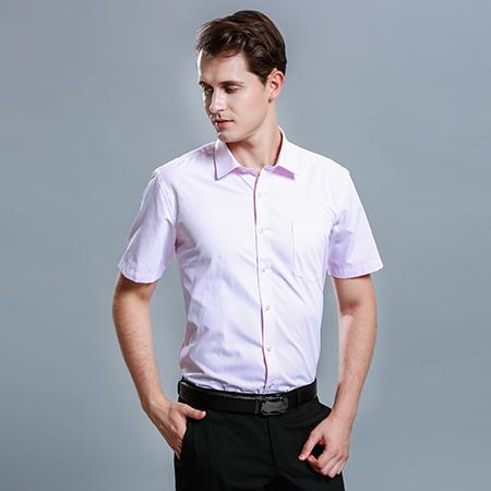 商务衬衫短袖男职业衬衫