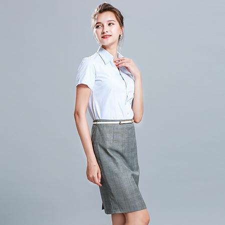 短袖职业商务衬衫女