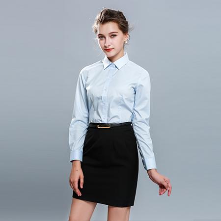 商务休闲长袖衬衫衬衣女