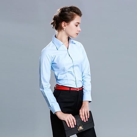 长袖职业商务衬衫女
