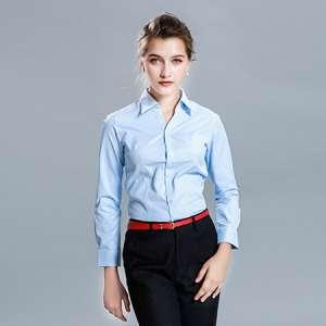 衬衫长袖休闲修身女士衬衣职业正装