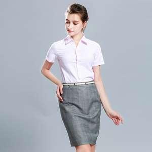 衬衫短袖女装商务修身衬衣