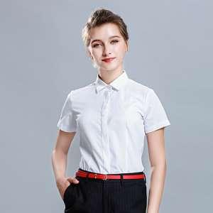 商务休闲短袖衬衫衬衣女