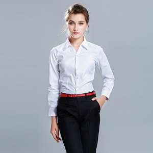 衬衫女长袖正装白衬衣修身百搭