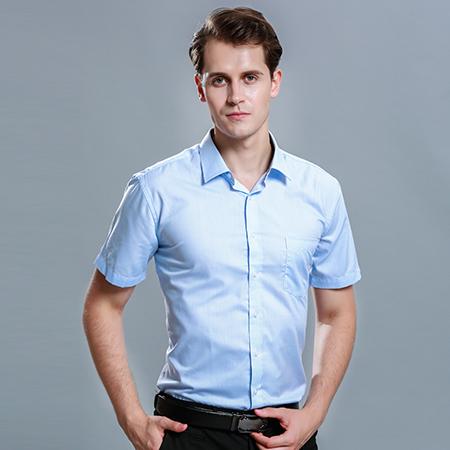 商务休闲短袖衬衫衬衣男