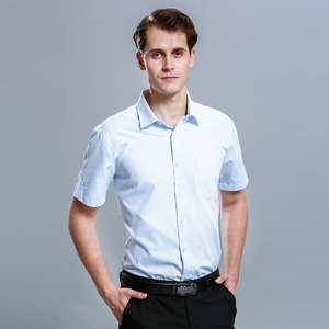 男士衬衫短袖休闲商务免烫男衬衣